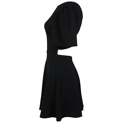 Buy Miss Selfridge Crepe Cross Back Playsuit, Black Online at johnlewis.com