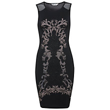 Buy Miss Selfridge Caviar Print Dress, Black Online at johnlewis.com