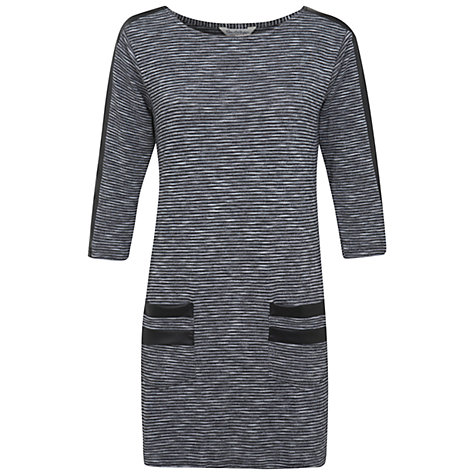 Buy Miss Selfridge Stripe Texture Tunic Dress, Grey Online at johnlewis.com