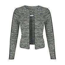 Buy Miss Selfridge Stripe Sleeve Jacket, Light Green Online at johnlewis.com