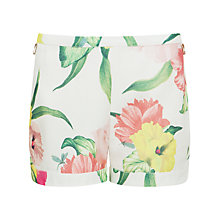 Buy Ted Baker Flowers at High Tea Shorts, Cream Online at johnlewis.com