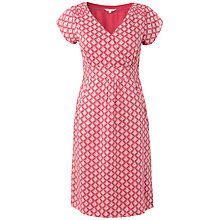 Buy White Stuff Lily Geo Dress, Calypso Coral Online at johnlewis.com