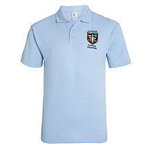 Buy Caterham High School PE Polo Shirt, Sky Blue Online at johnlewis.com