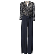 Buy Phase Eight Saskia Lace Jumpsuit, Navy Online at johnlewis.com