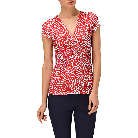 Buy Phase Eight Mosaic Twist Top, Poppy/White Online at johnlewis.com