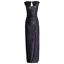 Buy Phase Eight Broadway Sequin Full Length Dress, Twilight Online at johnlewis.com