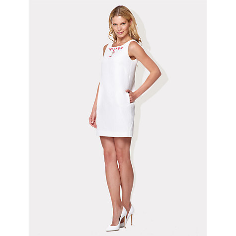 Buy Damsel in a dress Amalfi Dress, White Online at johnlewis.com