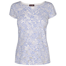 Buy Phase Eight Flo Print Top, White/Blue Online at johnlewis.com