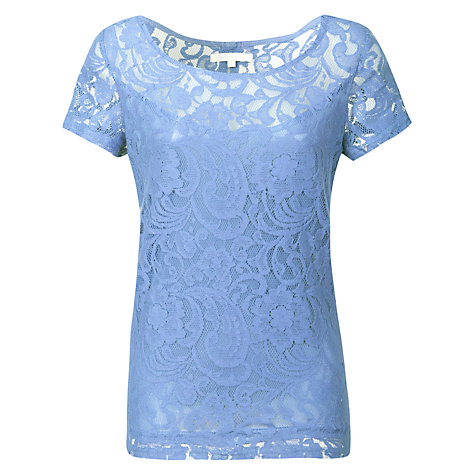 Buy True Decadence Luxe Lace T-shirt, Light Blue Online at johnlewis.com