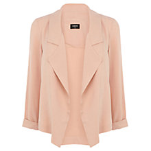 Buy Oasis Soft Collar Jacket, Light Neutral Online at johnlewis.com