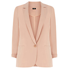 Buy Oasis Twill One Button Jacket, Stone Online at johnlewis.com