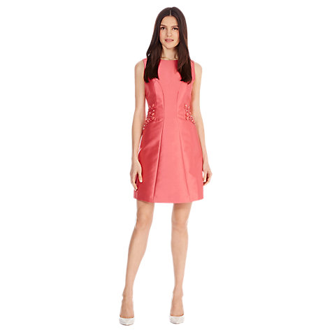 Buy Coast Sabrina A-Line Dress, Coral Online at johnlewis.com