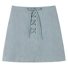 Buy Gérard Darel Cotton Skirt, Blue Online at johnlewis.com