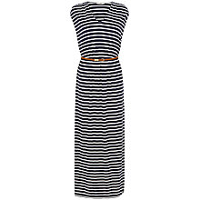 Buy Oasis V-neck Dress, Multi Blue Online at johnlewis.com