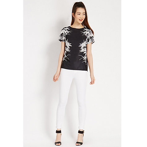 Buy Oasis Placement Palm T-Shirt, Multi Online at johnlewis.com