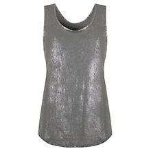 Buy Mint Velvet Metallic Vest, Khaki Green Online at johnlewis.com