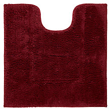 Buy John Lewis Deep Pile Pedestal Mat, New Claret Online at johnlewis.com