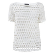 Buy Mint Velvet Teardrop Lace Top, Cream Online at johnlewis.com