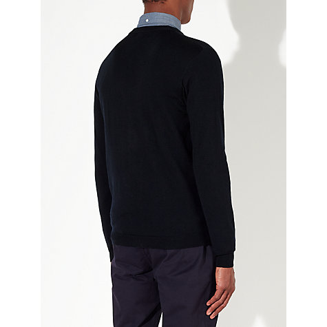 Buy Kin by John Lewis Fine Gauge Merino Cardigan, Navy Online at johnlewis.com
