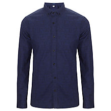 Buy Kin by John Lewis Marbleline Print Shirt, Navy Online at johnlewis.com