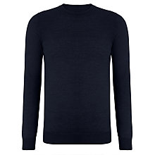 Buy Kin by John Lewis Moss Stitch Yoke Crew Neck Jumper, Navy Online at johnlewis.com