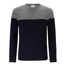 Buy Kin by John Lewis Contrast Moss Knit Crew Neck Jumper Online at johnlewis.com
