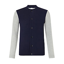 Buy Kin by John Lewis Contrast Baseball Bomber Jacket, Navy/Grey Online at johnlewis.com