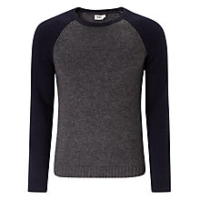 Buy Kin by John Lewis Contrast Raglan Crew Neck Jumper Online at johnlewis.com