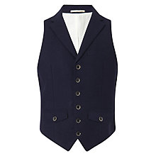 Buy JOHN LEWIS & Co. Abraham Moon Collared Waistcoat, Navy Online at johnlewis.com