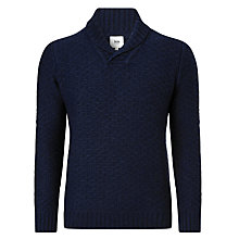 Buy Kin by John Lewis Chunky Shawl Neck Jumper, Navy Online at johnlewis.com