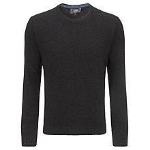 Buy John Lewis Made in Italy Merino Cashmere Crew Neck Jumper, Charcoal Online at johnlewis.com