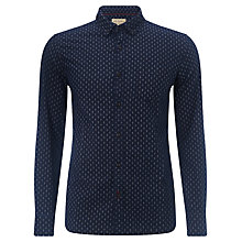 Buy JOHN LEWIS & Co. Cross Dot Print Shirt, Indigo Online at johnlewis.com