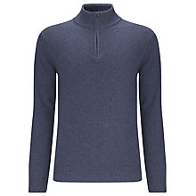 Buy John Lewis Italian Merino and Cashmere Zip Neck Jumper Online at johnlewis.com