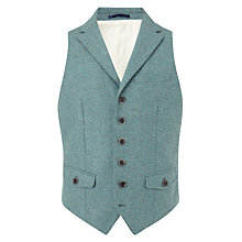 Buy JOHN LEWIS & Co. Abraham Moon Collared Waistcoat, Duck Egg Online at johnlewis.com