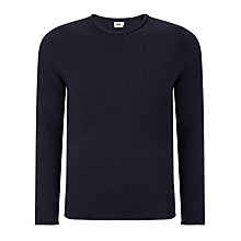 Buy Kin by John Lewis Roll Edge Fine Knit Jumper, Navy Online at johnlewis.com