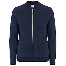 Buy Kin by John Lewis Quilted Jersey Bomber Jacket Cloned, Navy Online at johnlewis.com