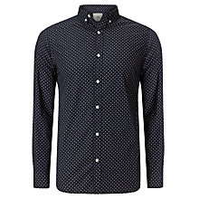 Buy John Lewis Polka Dot Shirt, Navy Online at johnlewis.com