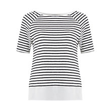 Buy Mint Velvet Stripe Tee, Ivory / Navy Online at johnlewis.com