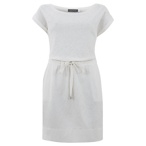 Buy Mint Velvet Jersey Dress, Ivory Online at johnlewis.com