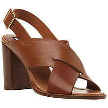 Buy Dune Farah Leather Cross Strap Heeled Sandals Online at johnlewis.com