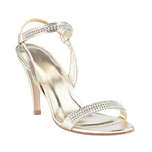 Buy John Lewis Nile Embellished Court Shoes, Gold Online at johnlewis.com