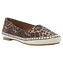 Buy Dune Lepsy Printed Canvas Espadrilles Online at johnlewis.com
