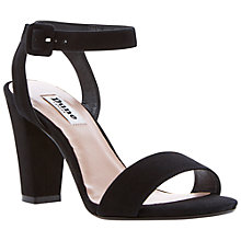 Buy Dune Harpers Two Part Block Heel Sandal, Black Online at johnlewis.com