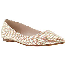 Buy Dune Amarie Ponity Flat Shoes, Gold Metallic Online at johnlewis.com