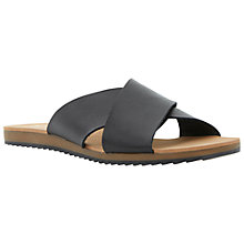 Buy Dune Jaiden Leather Crossover Sandal, Black Online at johnlewis.com