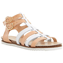 Buy Dune Jeanie Sporty Gladiator Sandals, Nude Online at johnlewis.com