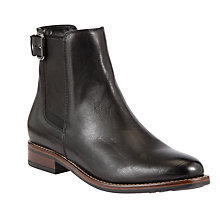 Buy John Lewis Giza Leather Ankle Boots, Black Online at johnlewis.com