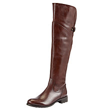 Buy John Lewis Nelson Leather Knee Boots, Tan Online at johnlewis.com