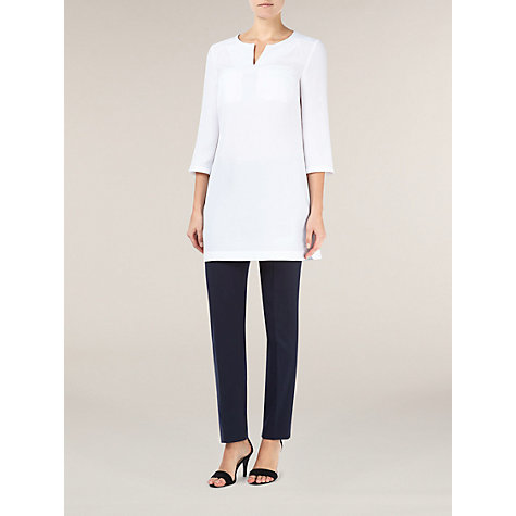 Buy Planet Satin Back Tunic Top, White Online at johnlewis.com