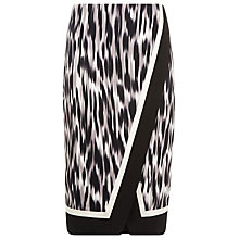 Buy Planet Hazy Animal Print Skirt, Black and White Online at johnlewis.com